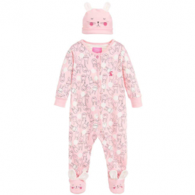 Joules Baby Girl Romper & Hat Pink Bunny BabyJoy