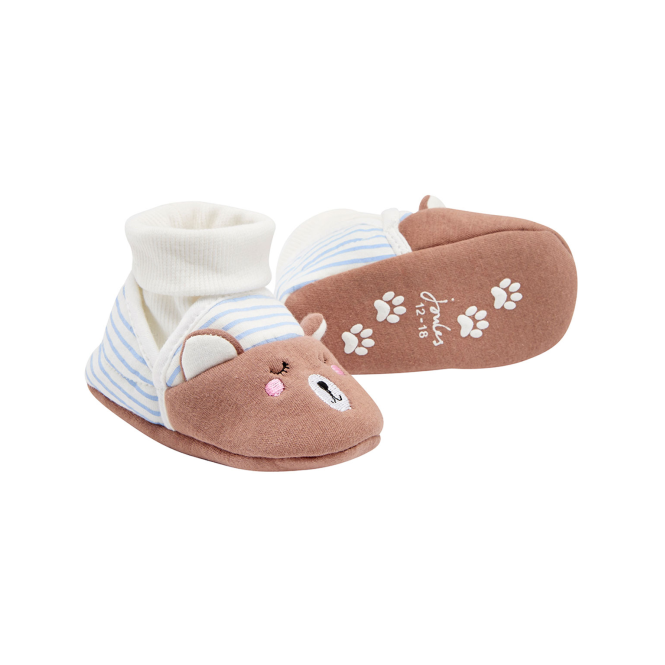 Joules Baby Girl Slippers Bear BabyNPRSLPG