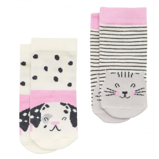 Joules Baby Girl Socks 2 Pack Dog BabyNeatFeetG