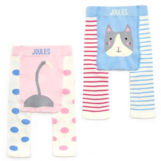 Joules Baby Leggings 2 Pack Pink Cat BabyLivelyG