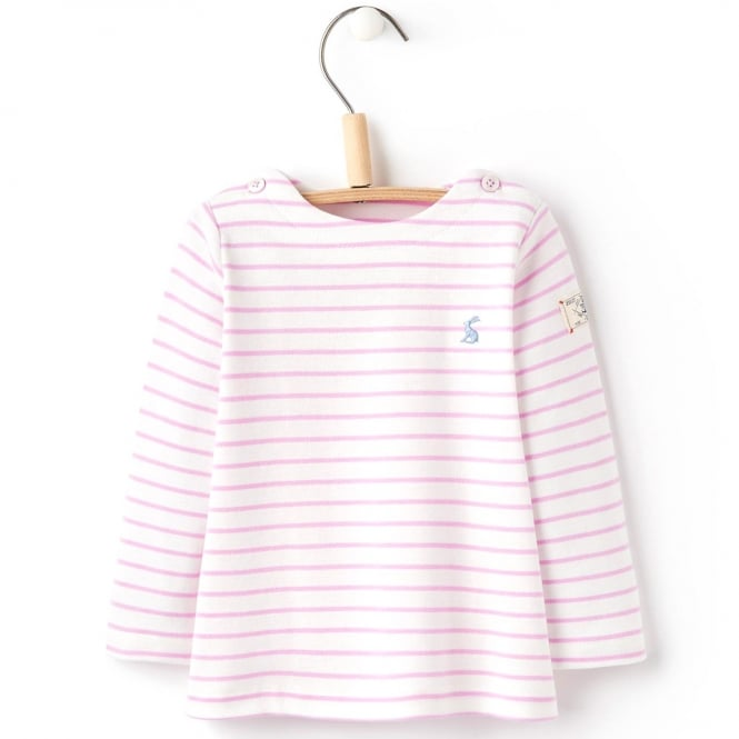 Joules Baby Top Mauve Stripe BabyHarbourG