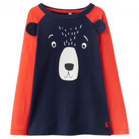 Joules Boys Top Navy Bear YngAnimateB
