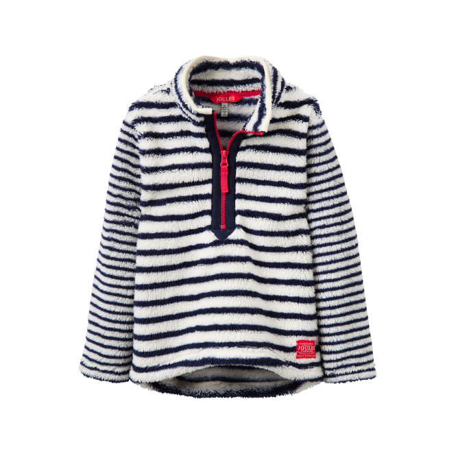 Joules Girls Fleece Snow Stripe YngMerridie