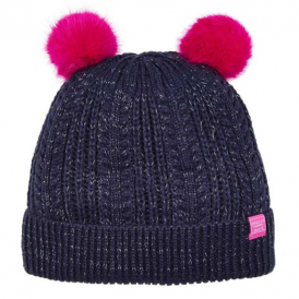 Joules Girls Hat French Navy Sparkle JnrAilsa