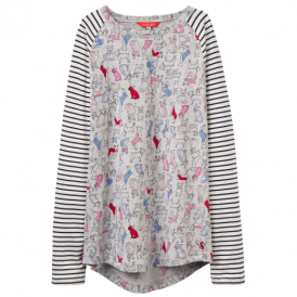 Joules Girls Top Grey Bulldog OdrMishmash