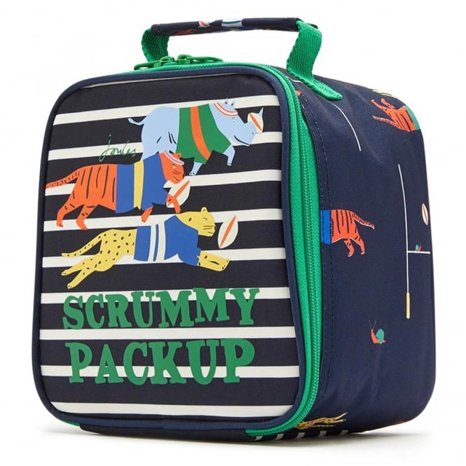 Joules Lunch Bag Navy Scrum JnrMunchBagB