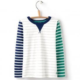 Joules Top Multi Stripe Grey YngBreton