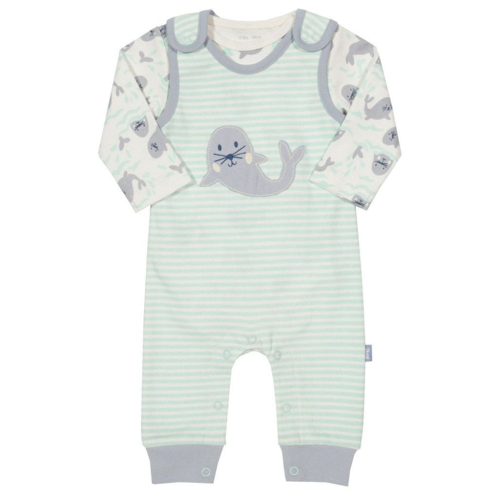 fdb3a6a92ea43 Kite Clothing Baby Dungaree Set Seal - Baby Clothes from Soup Dragon UK