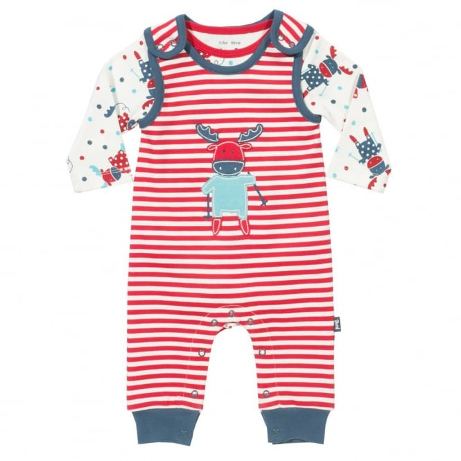 Kite Clothing Baby Moose Dungaree Set