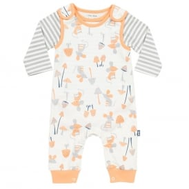 Kite Clothing Baby Mousey Dungaree Set