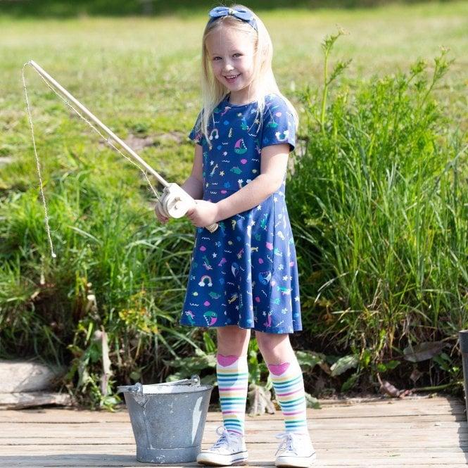Organic 0-5 Years Kite Girls Mini Land Ahoy Leggings