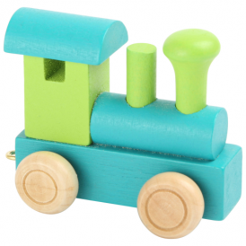Legler Coloured Name Train Engine Green Petrol