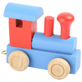 Legler Coloured Name Train Engine Red Blue
