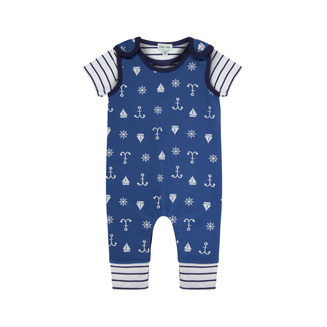 Lilly and Sid Baby Boy Dungaree Set Ships