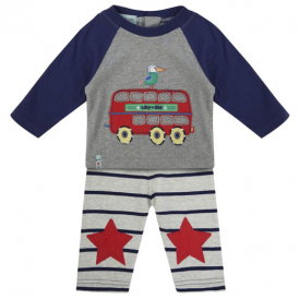Lilly and Sid Baby Boy Jogger Set Red Bus