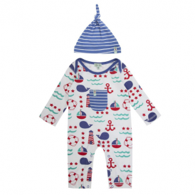 Lilly and Sid Baby Boy Romper & Hat Sea Life