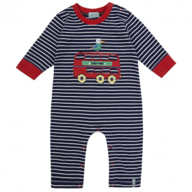 Lilly and Sid Baby Boy Romper Red Bus