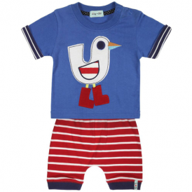 Lilly and Sid Baby Boy Shorts Set Seagull Ted