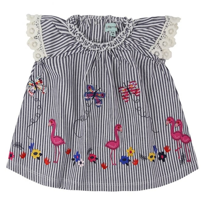 44d8f54a1ac8f Lilly and Sid Baby Dress Flamingo Stripe - Baby Clothes from Soup ...