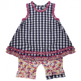 Lilly and Sid Baby Girl Dress Set Ditsy Check