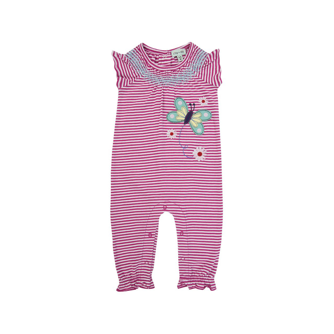 Lilly and Sid Baby Girl Romper Butterfly