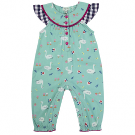 Lilly and Sid Baby Girl Romper Swan