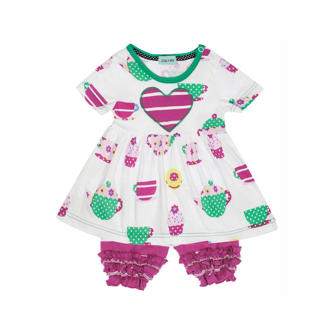 Lilly and Sid Baby Girls Dress and Bloomers Set