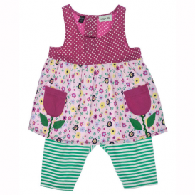 Lilly and Sid Baby Girls Dress Tulip Pocket Set