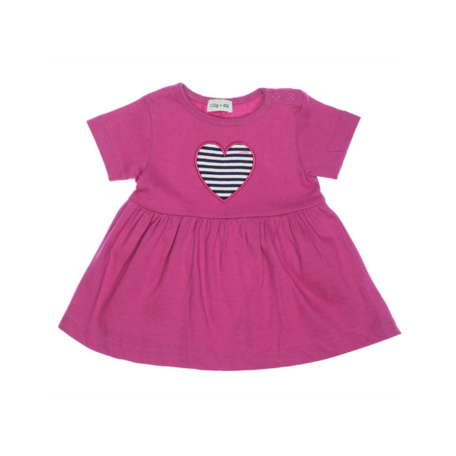 Lilly and Sid Baby Girls Dress with Heart Applique