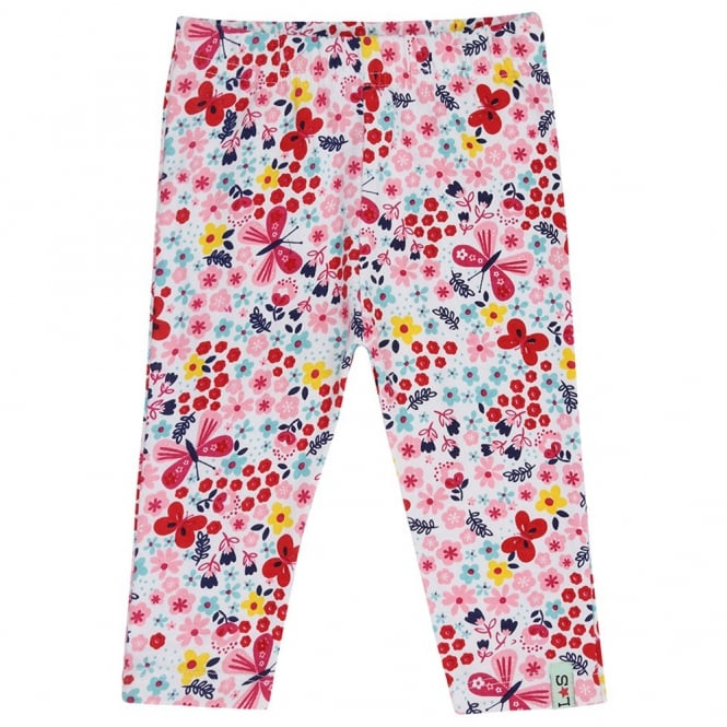 Lilly and Sid Baby Leggings Capri Butterfly Florals