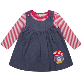 Lilly and Sid Baby Pinafore Set Reversible