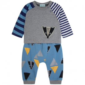 Lilly and Sid Baby Top & Joggers Badger