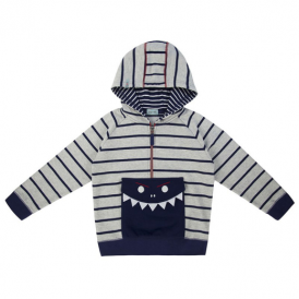 Lilly and Sid Boys Hoodie Shark Pocket