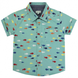 Lilly and Sid Boys Shirt Fishy