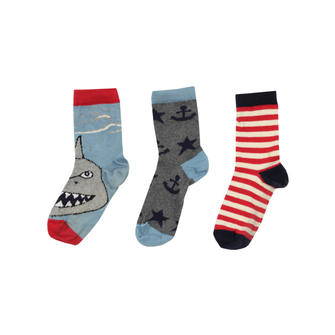 Lilly and Sid Boys Socks In A Box Seashore