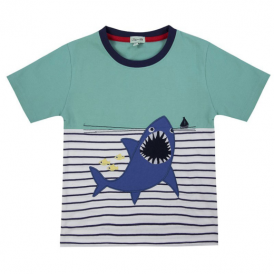 Lilly and Sid Boys T-Shirt Applique Shark