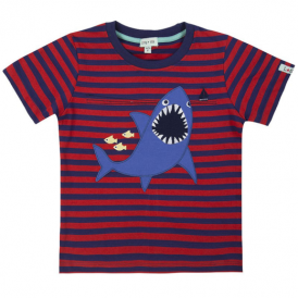 Lilly and Sid Boys T-Shirt Shark Stripe