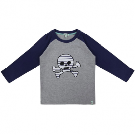 Lilly and Sid Boys Top Stripe Skull