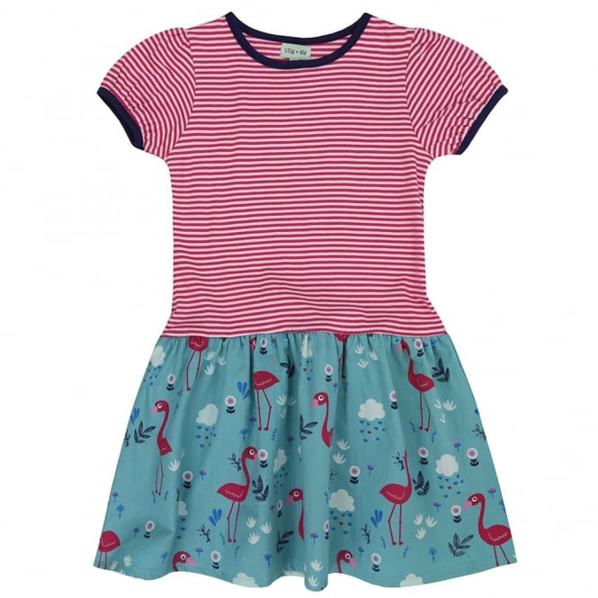 820bde804af1f Lilly and Sid Dress Flamingo Pink Stripe - Kids Clothes from Soup ...