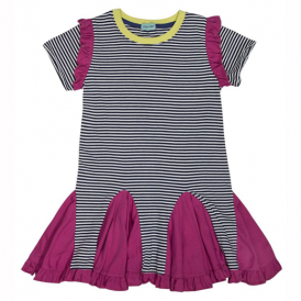 Lilly and Sid Girls Dress Twirly Insert Blues