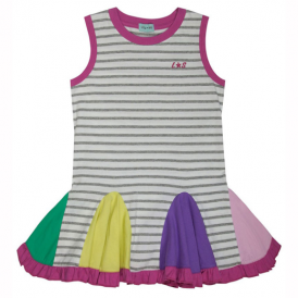 Lilly and Sid Girls Dress Twirly Insert Greys