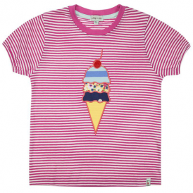 Lilly and Sid Girls Top Applique Ice Cream