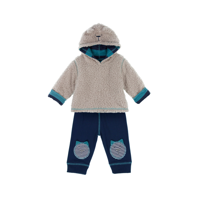 Lilly and Sid Lilly & Sid Baby Boy Fleece Set Blues