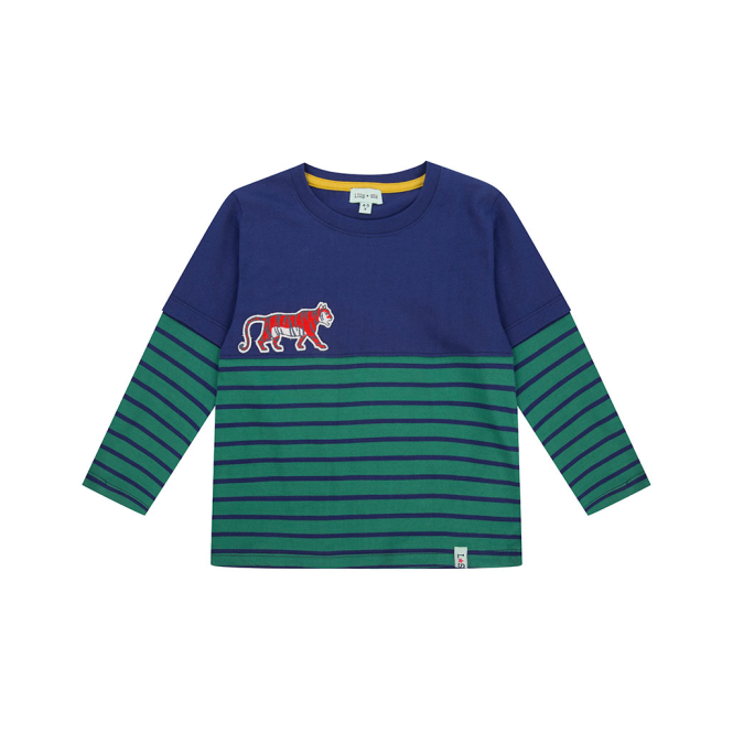 Buy Cheap Manchester Boys Creeping Tiger Long Sleeve Top Lilly and Sid Sale 2018 Newest Perfect BX1yEOUFFd