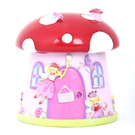 Lucy Locket Toadstool Fairy Resin Money Box
