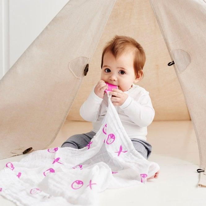 Pink Matchstick Monkey Teething Gift Set