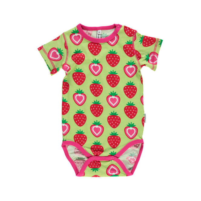 Maxomorra Baby Girl S/S Body Strawberry