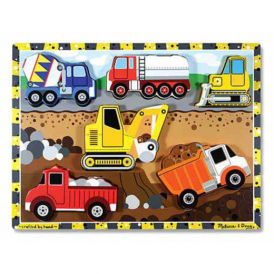 Melissa & Doug Wooden Chunky Puzzle Construction