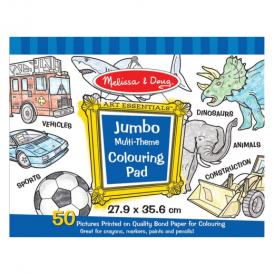Melissa & Doug Jumbo Colouring Pad Blue