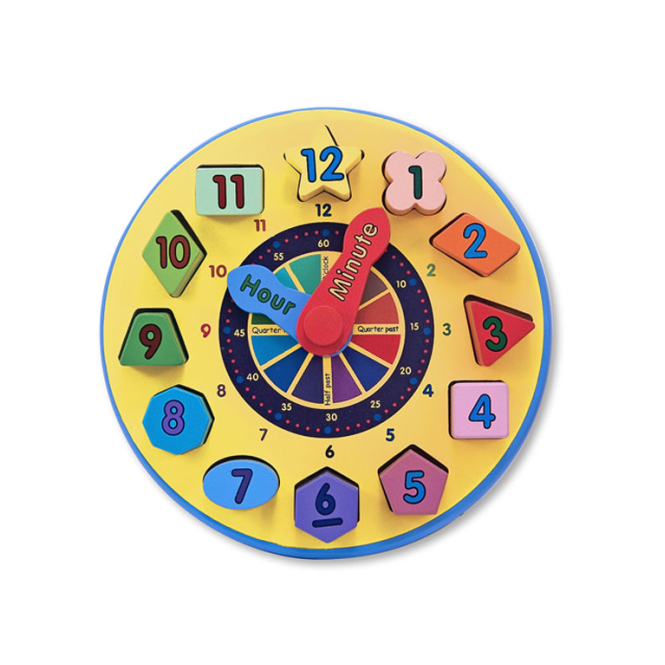 Melissa and Doug Melissa & Doug Shape Sorting Clock